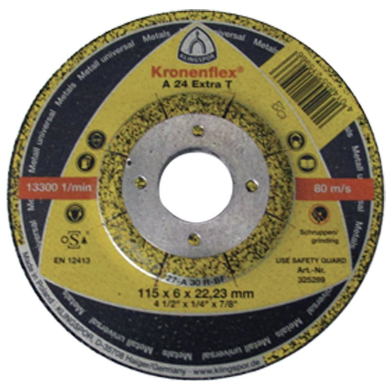 Kronenflex® A 24 EXTRA T-Grinding Disc for Hand-Held Machines