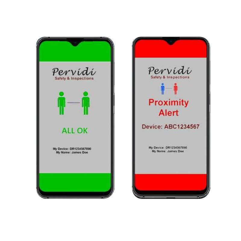Pervidi Physical Distancing Alerts