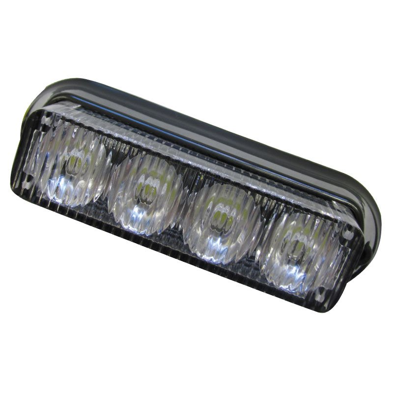 LED Marker Lamp - Clear Striped Lens
