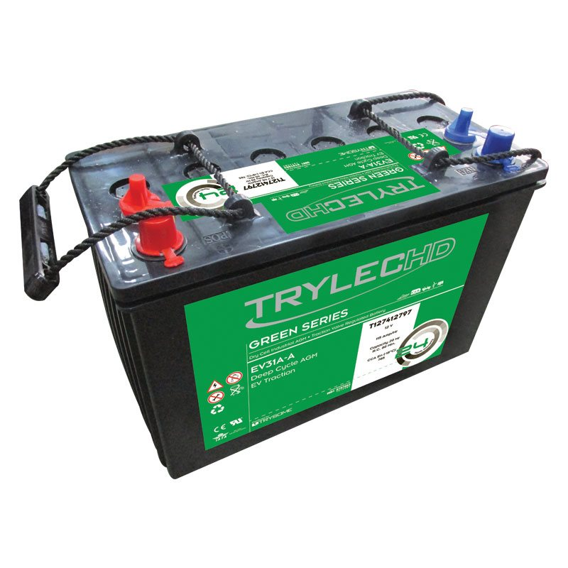 TrylecHD Green Series Dry Cell Industrial AGM Maintenance-Free Battery