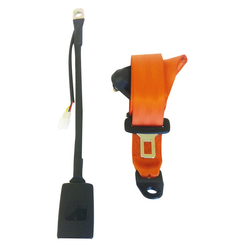 Safety Solutions Orange 3-Point Static Seatbelt