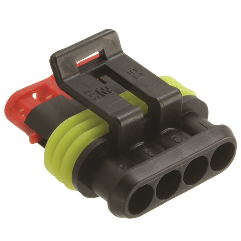 TE Connectivity 5-Way AMP  Superseal 1.5 mm Series Plugs  1 Row Female Connector Housing 6 mm Pitch