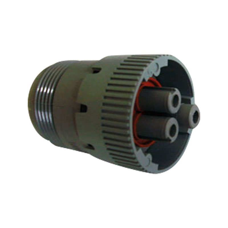 3-Way HD10 Plug with Threaded Rear