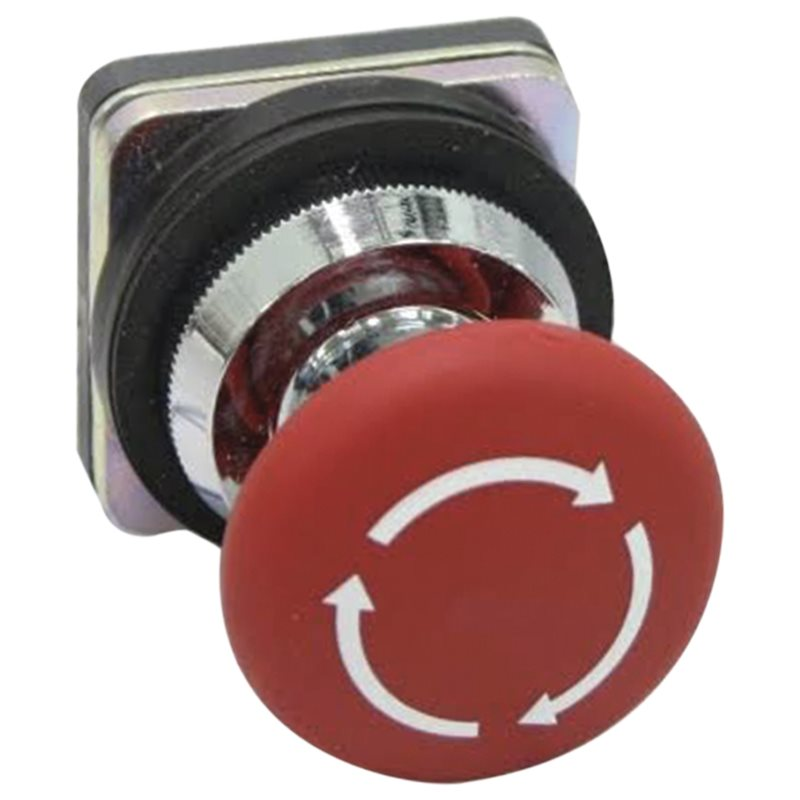 Red Mushroom-Head Push Button Switch